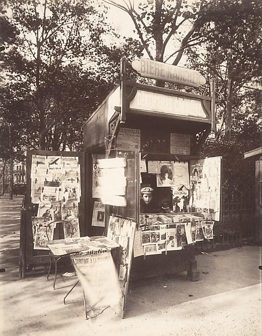 Boutique Journaux, Rue de Sèvres, Paris Eugène Atget (French, Libourne 1857–1927 Paris)
