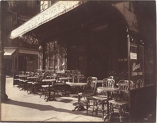Café, Avenue de la Grande-Armée Eugène Atget (French, Libourne 1857–1927 Paris)