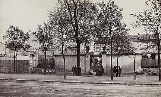 """""""Coin du Boulevard St Jacques (N∫66)"""". L'atelier de Charles Marville, 66 boulevard Saint-Jacques, 14Ëme arrondissement, Paris"""