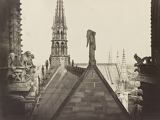 Les Combles pris de la Galerie des Tours (The Roofs of Notre Dame, from the Gallery of Towers) Charles Marville (French, Paris 1813–1879 Paris)