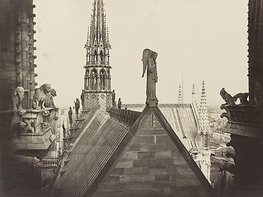 Les Combles pris de la Galerie des Tours (The Roofs of Notre Dame, from the Gallery of Towers) Charles Marville (French, Paris 1813–1879 Paris)