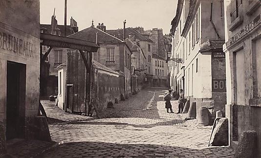 Rue Vieille-Notre-Dame, vue prise de la rue du Pont-aux-biches, 5Ëme arrondissement, Paris