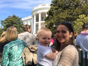 waiting in line for the easter egg roll
